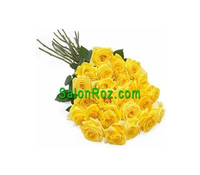 """Bouquet of 25 yellow roses"" in the online flower shop salonroz.com"