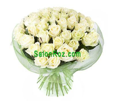 """Bouquet of 45 white roses"" in the online flower shop salonroz.com"