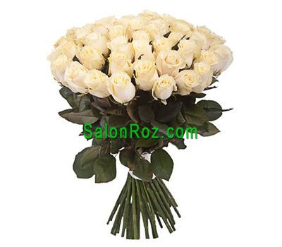 """Bouquet of 51 Cream Roses"" in the online flower shop salonroz.com"
