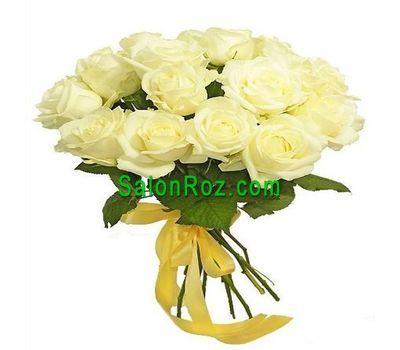 """Bouquet of 17 white roses"" in the online flower shop salonroz.com"