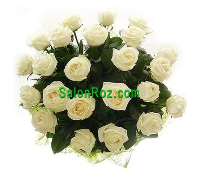 """Bouquet of 21 white roses"" in the online flower shop salonroz.com"