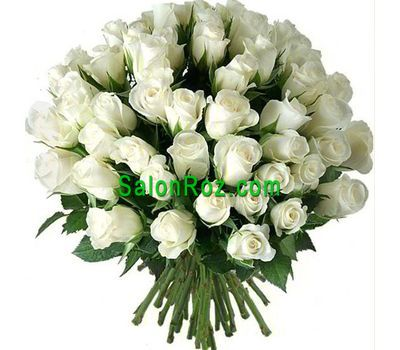 """Bouquet of 65 white roses"" in the online flower shop salonroz.com"