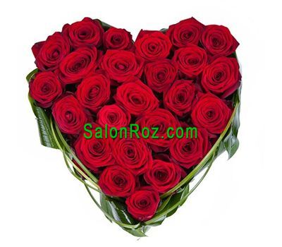 """25 red roses"" in the online flower shop salonroz.com"