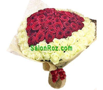 """""""Букет із 101 троянди"""" в интернет-магазине цветов salonroz.com"""