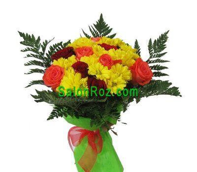 """""""Букет из 9 роз и 10 хризантем"""" в интернет-магазине цветов salonroz.com"""