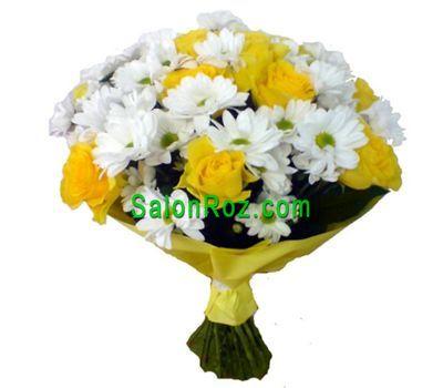 """""""Букет из 9 роз и 8 хризантем"""" в интернет-магазине цветов salonroz.com"""