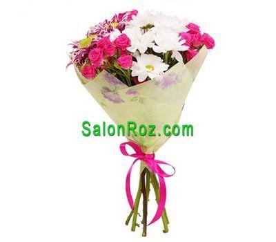 """""""Букет из 3 роз и 2 хризантем"""" в интернет-магазине цветов salonroz.com"""
