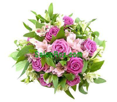 """""""Букет из 9 роз и 6 альстромерий"""" в интернет-магазине цветов salonroz.com"""