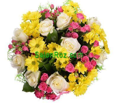 """""""Букет из 14 роз и 5 хризантем"""" в интернет-магазине цветов salonroz.com"""