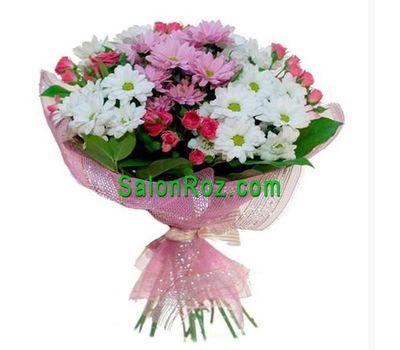 """""""Букет из 5 роз и 4 хризантем"""" в интернет-магазине цветов salonroz.com"""