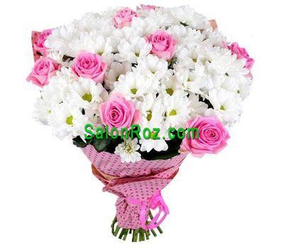 """""""Букет из 9 роз и 12 хризантем"""" в интернет-магазине цветов salonroz.com"""
