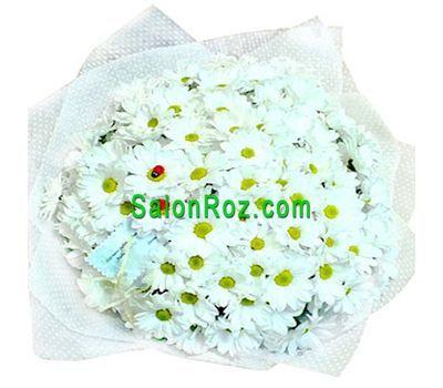 """""""Букет из 23 белых кустовых хризантем"""" в интернет-магазине цветов salonroz.com"""