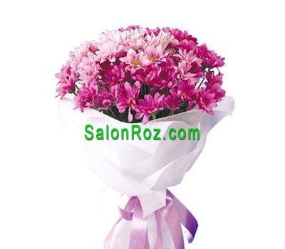 """""""Букет из 9 розовых хризантем"""" в интернет-магазине цветов salonroz.com"""