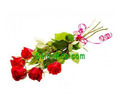 """""""Букет из 5 красных импортных роз"""" в интернет-магазине цветов salonroz.com"""