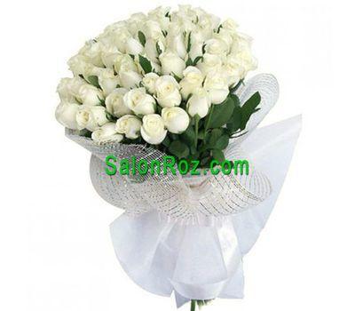 """""""Букет из 55 белых импортных роз"""" в интернет-магазине цветов salonroz.com"""