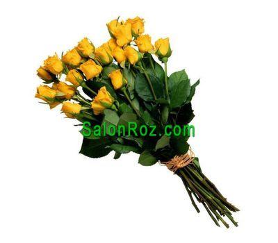"""""""Букет из 19 желтых импортных роз"""" в интернет-магазине цветов salonroz.com"""