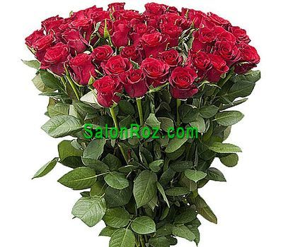 """""""Букет из 55 красных импортных роз"""" в интернет-магазине цветов salonroz.com"""