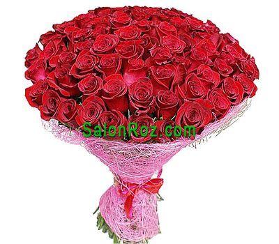 """""""Букет из 101 импортных роз"""" в интернет-магазине цветов salonroz.com"""