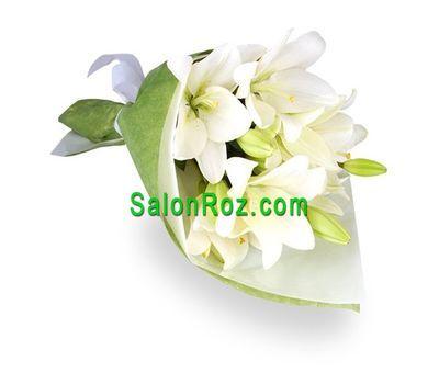 """""""Букет из 3 лилий"""" в интернет-магазине цветов salonroz.com"""