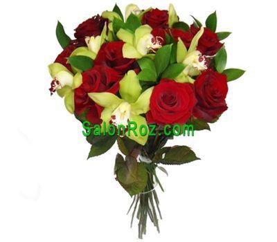 """""""Букет из 7 орхидей и 10 роз"""" в интернет-магазине цветов salonroz.com"""