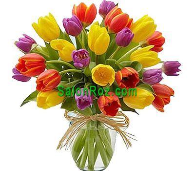 """""""Букет из 25 тюльпанов"""" в интернет-магазине цветов salonroz.com"""
