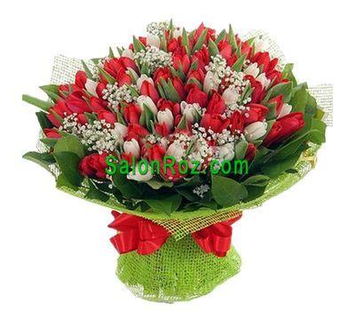 """""""Букет из 101 тюльпана"""" в интернет-магазине цветов salonroz.com"""