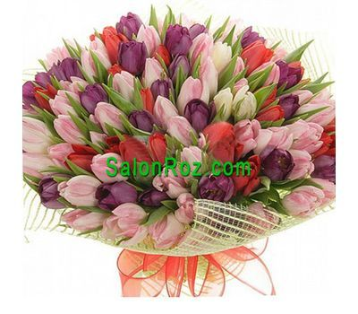 """""""Букет из 151 тюльпан"""" в интернет-магазине цветов salonroz.com"""