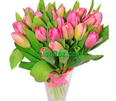 """""""Букет из 21 тюльпана"""" в интернет-магазине цветов salonroz.com"""
