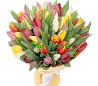 """""""Букет из 65 тюльпанов"""" в интернет-магазине цветов salonroz.com"""