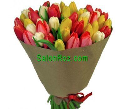 """""""Букет из 61 тюльпана"""" в интернет-магазине цветов salonroz.com"""