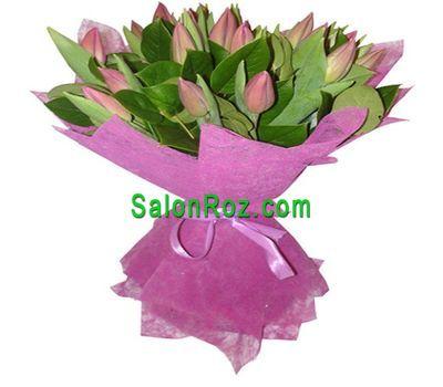 """""""Букет из 17 розовых тюльпанов"""" в интернет-магазине цветов salonroz.com"""