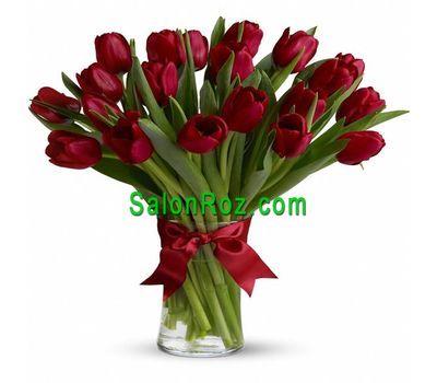 """""""Букет из 21 красных тюльпанов"""" в интернет-магазине цветов salonroz.com"""