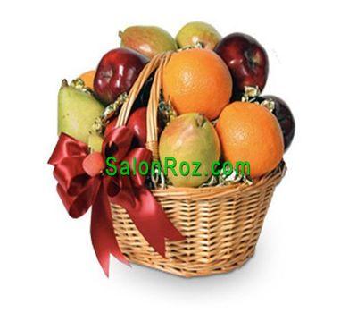 """""""Фруктовая корзина с груш, яблок и апельсин"""" в интернет-магазине цветов salonroz.com"""
