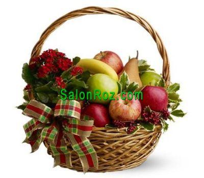 """""""Фруктовая корзина из груш, яблок и бананов"""" в интернет-магазине цветов salonroz.com"""