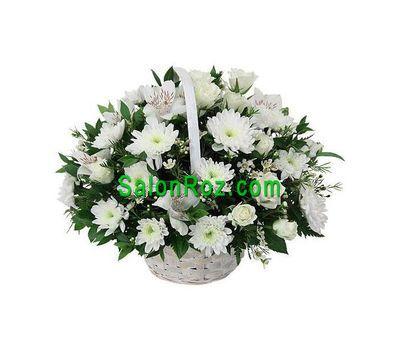 """""""Корзина цветов из 7 орхидей, 7 хризантем и 9 роз"""" в интернет-магазине цветов salonroz.com"""