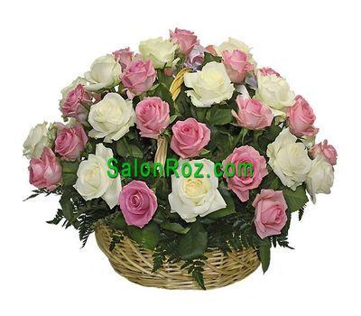 """""""Корзина из 41 розы"""" в интернет-магазине цветов salonroz.com"""