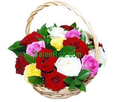 """""""Корзина из 17 роз"""" в интернет-магазине цветов salonroz.com"""