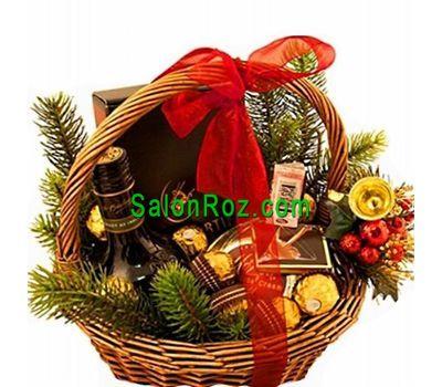 """""""Подарочная новогодняя корзина"""" в интернет-магазине цветов salonroz.com"""