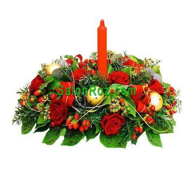 """""""Новогодняя композиция"""" в интернет-магазине цветов salonroz.com"""