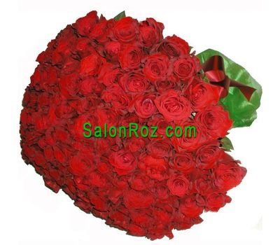 """Bouquet of 101 imported roses"" in the online flower shop salonroz.com"