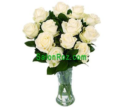 """Bouquet of 11 white roses"" in the online flower shop salonroz.com"